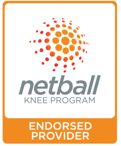 netball knee program logo